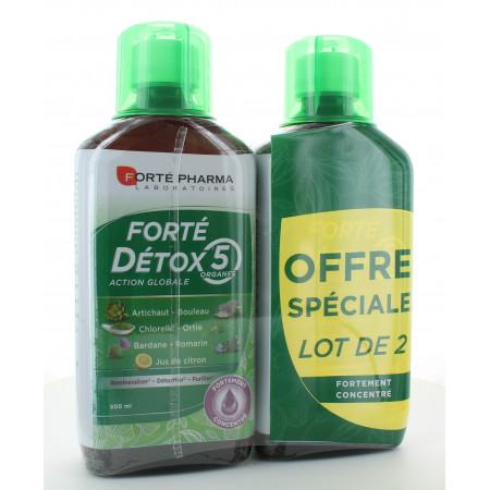 Forté Pharma Forté Détox 5 Action Globale 2X500ml
