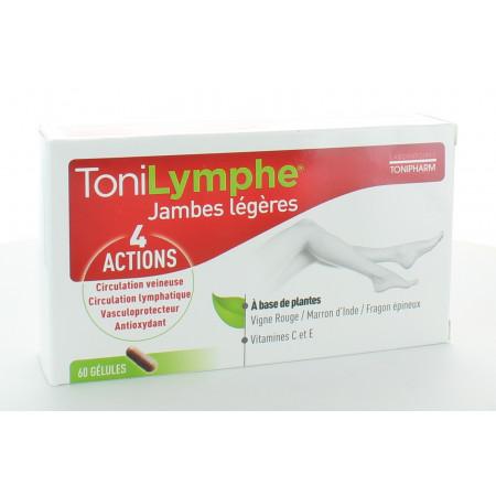ToniLymphe Jambes Légères 60 gélules
