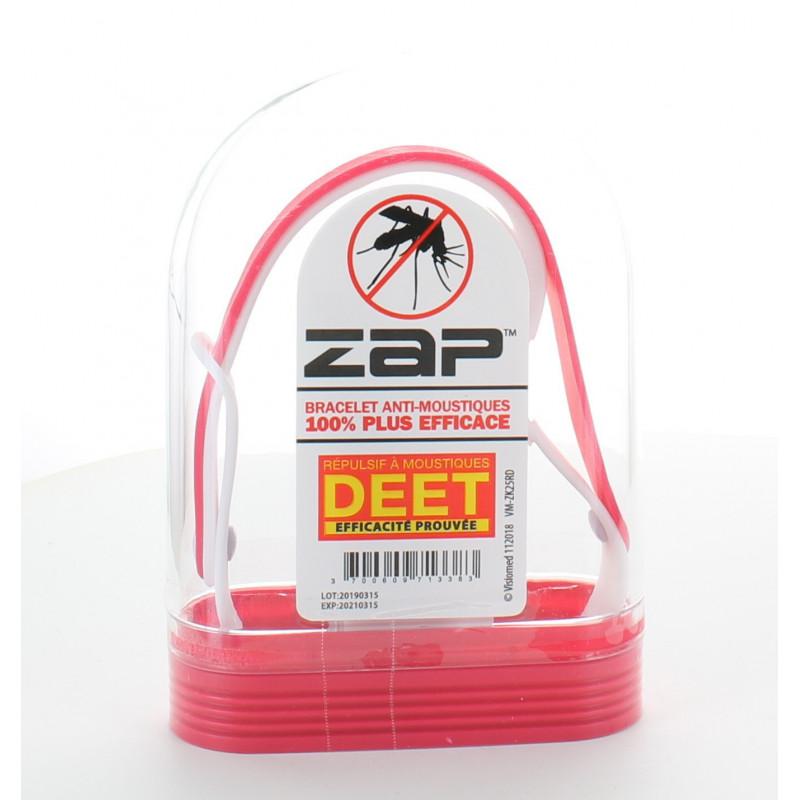 Bracelet Anti-moustiques Rouge&Blanc ZAP