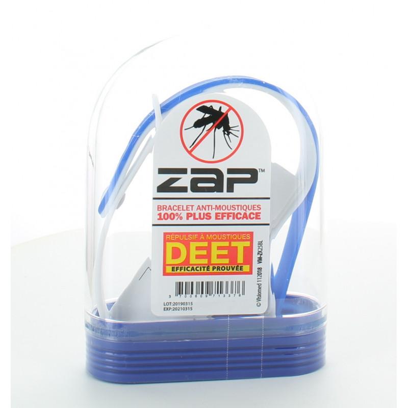 Bracelet Anti-moustiques Bleu&Blanc ZAP