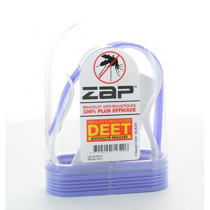 Bracelet Anti-moustiques Mauve&Blanc ZAP