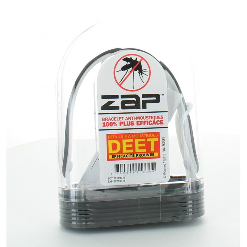Bracelet Anti-moustiques Noir&Blanc ZAP