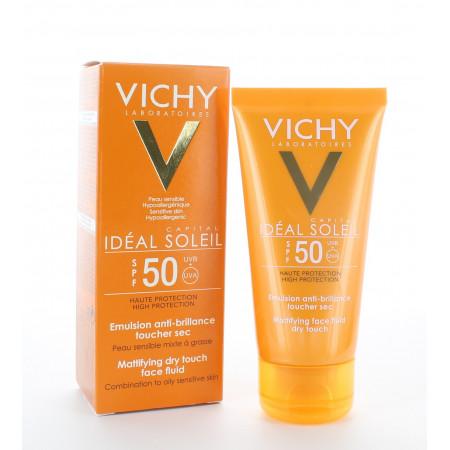 Vichy Idéal Soleil Émulsion Anti-brillance Toucher...