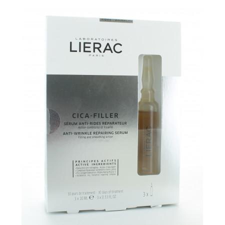 Lierac Cica-Filler Sérum Anti-rides Réparateur 3X10ml