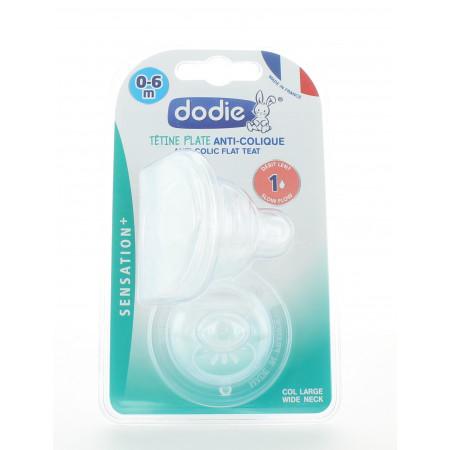Dodie Tétine Plate Anti-colique Sensation+ 0-6 mois X2