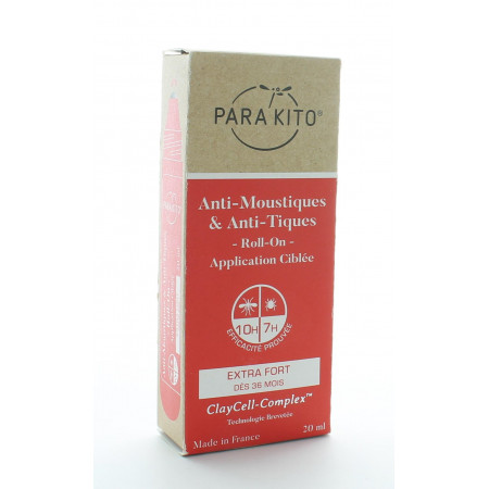 Parakito Roll-on Anti-moustiques & Anti-tiques Extra Fort 20ml