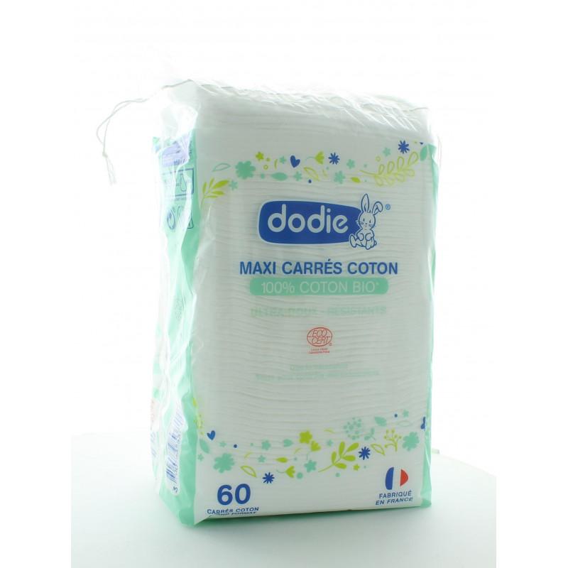 Dodie Maxi Carrés Coton 60 pièces