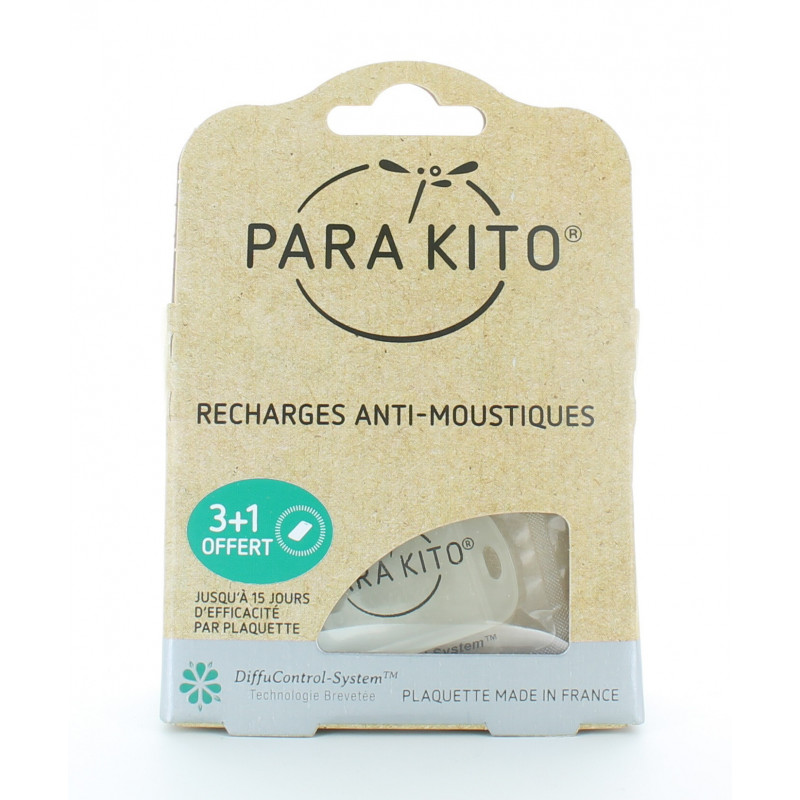 Para'Kito Recharges Anti-moustiques 3+1 offert
