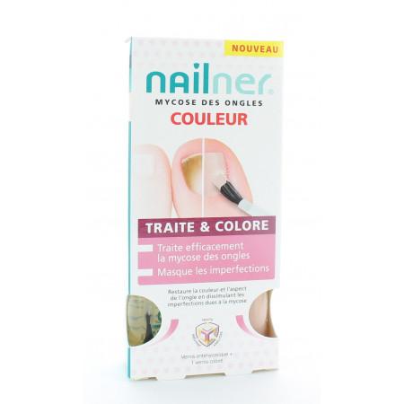 Nailner Mycose des Ongles Traite & Colore 2X5ml