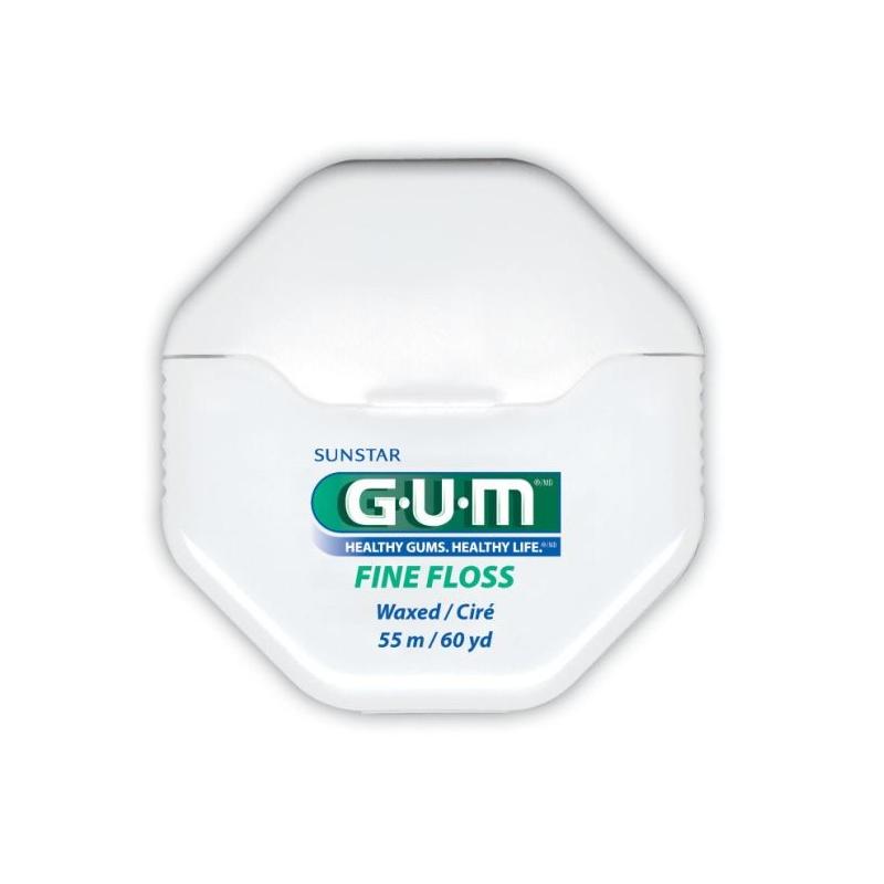 Fil Dentaire Ciré Fine Floss 1555 GUM 55 m