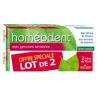 Dentifrice Bi-fluoré Soin Gencives Sensibles Homéodent Chlorophylle 2X75ml