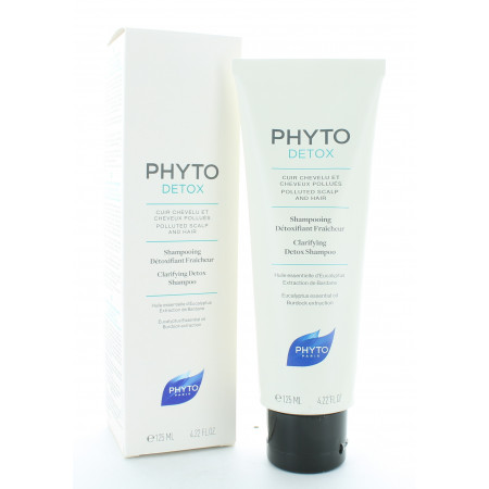 PhytoDetox Shampooing Détoxifiant Fraîcheur 125ml