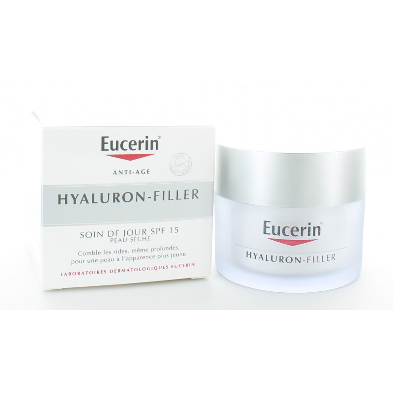 Eucerin Hyaluron-Filler Soin de Jour SPF15 Peau Sèche 50ml