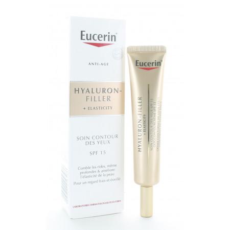 Eucerin Hyaluron-Filler + Elasticity Soin Contour des Yeux SPF15 15ml