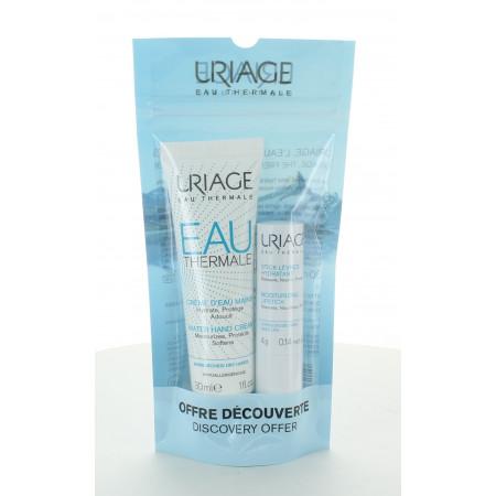 Uriage Offre Crème d'Eau Mains + Stick Lèvres Hydratant