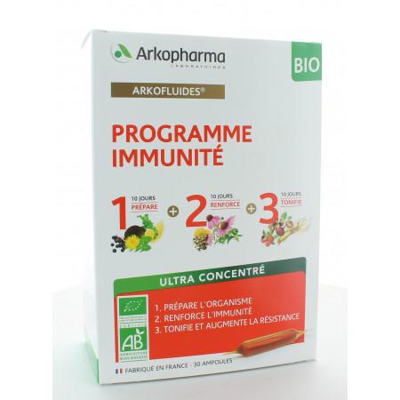 Arkopharma Arkofluides Programme Immunité Bio 30 ampoules