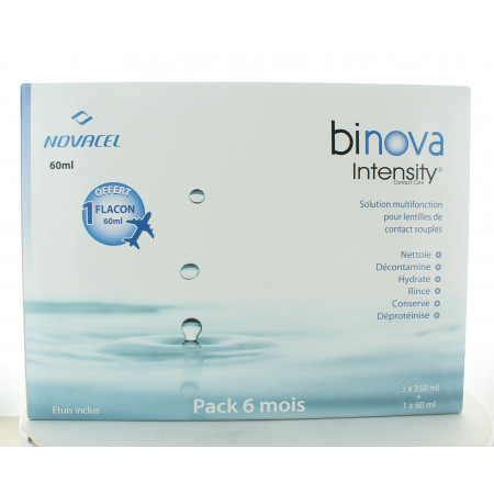 Binova Intensity Solution Multifonction 3X350ml + 1 flacon 60ml offert