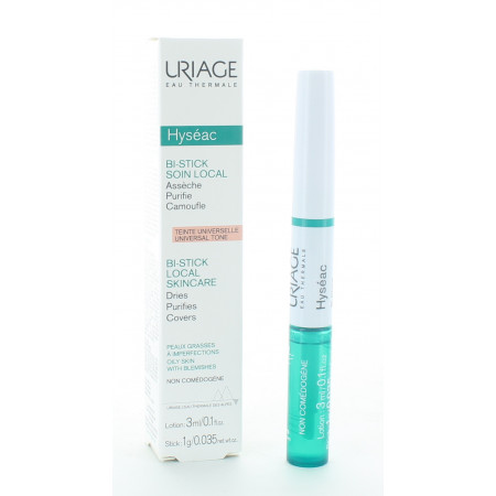 Uriage Hyséac Bi-Stick Soin Local 3ml + 1g