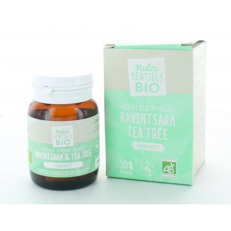 Nutri'Sentiels Bio Ravintsara Tea Tree 30 gélules