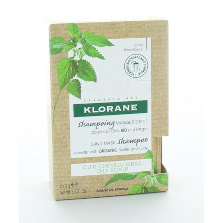 Klorane Shampooing Masque 2en1 Cuir Chevelu Gras 8X3g