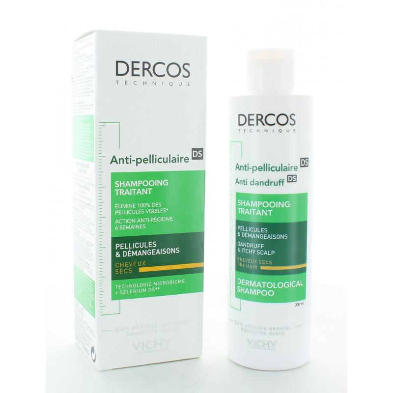 Dercos Anti-Pelliculaire DS Shampooing Traitant Cheveux Secs 200ml