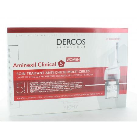 Dercos Aminexil Clinical Soin Anti-chute Femme 21 monodoses