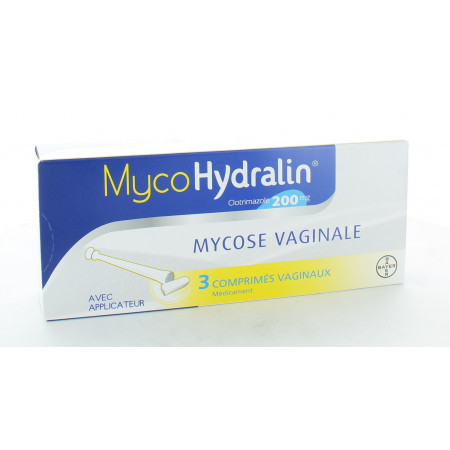 MycoHydralin 200 mg 3 comprimés vaginaux