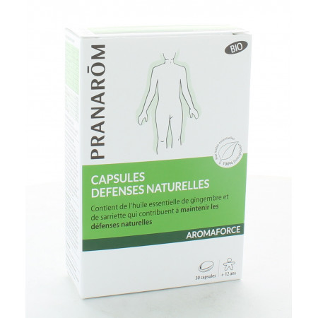 Pranarôm Aromaforce Capsules Défenses Naturelles Bio X30