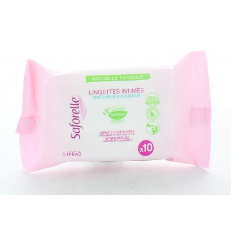 Saforelle Pack Lingettes Intimes X10
