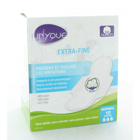 Unyque Serviettes Extra-fines Flux Normal X10