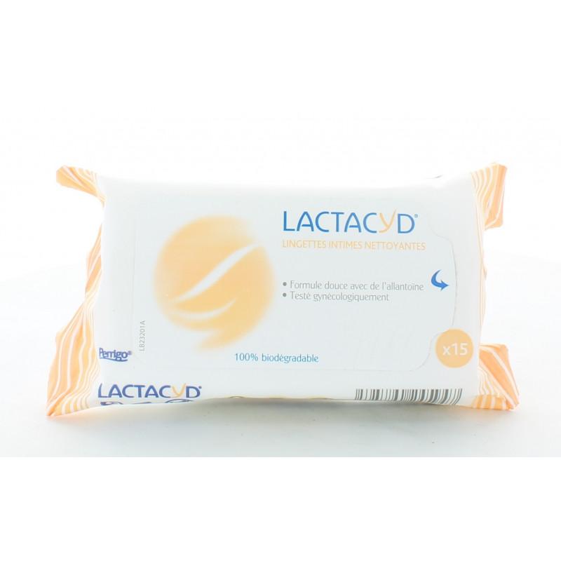 Lactacyd Lingettes Intimes Nettoyantes X15