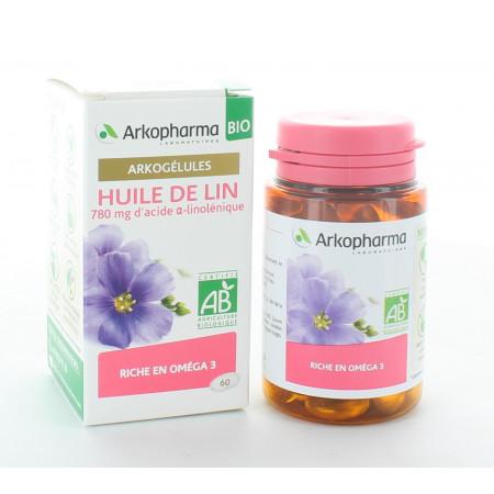 Arkopharma Arkogélules Bio Huile de Lin 60 capsules