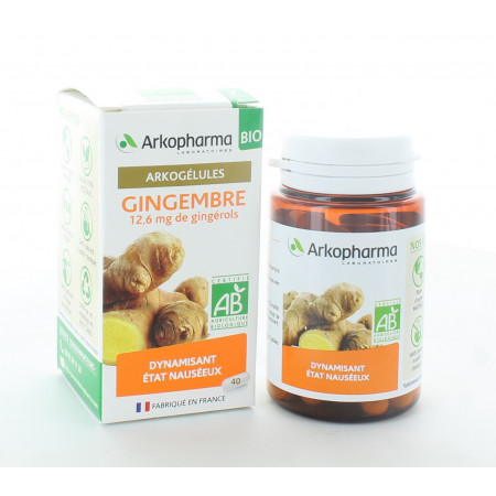 Arkopharma Arkogélules Bio Gingembre 40 gélules