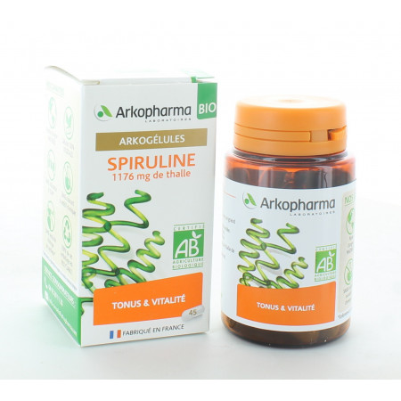 Arkopharma Arkogélules Bio Spiruline 45 gélules