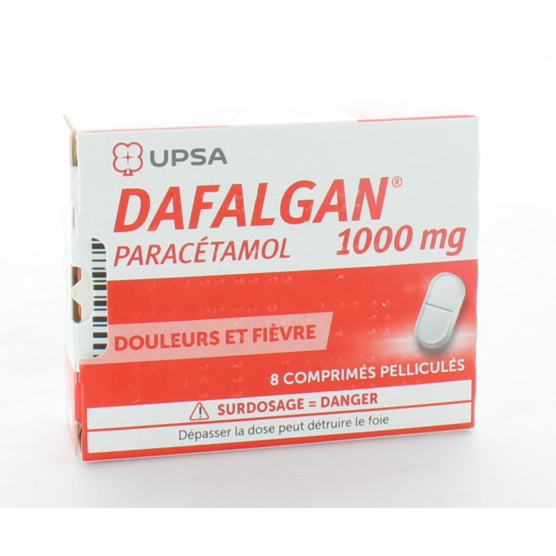 Dafalgan 1000mg 8 comprimés