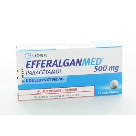 Efferalganmed 500 mg 16 comprimés