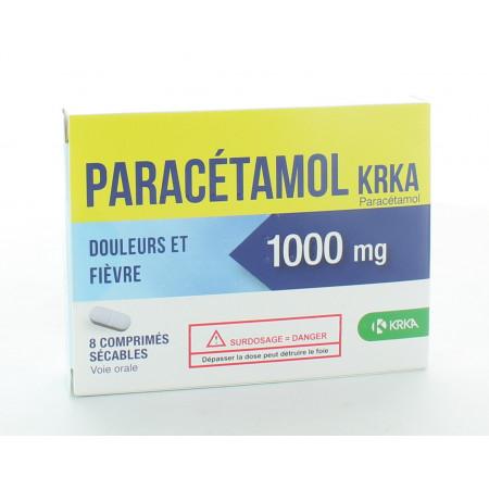 Paracétamol KRKA 1000mg 8 comprimés