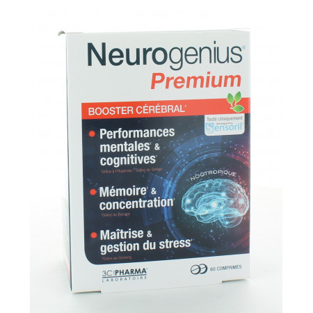 Neurogenius Premium Booster Cérébral 60 comprimés