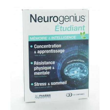 Neurogenius Étudiant Mémoire & Intelligence 30 comprimés