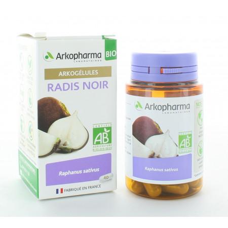 Arkopharma Arkogélules Bio Radis Noir 40 gélules
