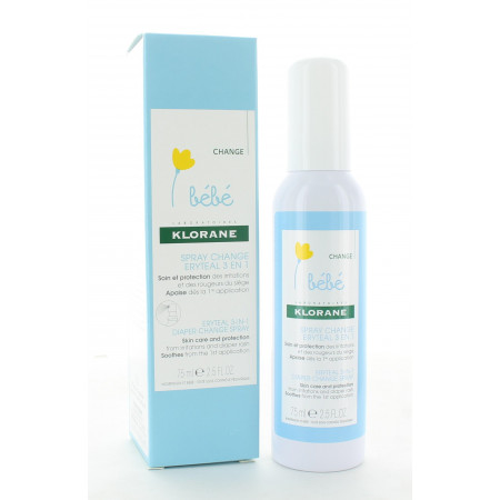 Klorane Bébé Spray Change Eryteal 3en1 75ml