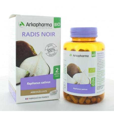 Arkopharma Arkogélules Bio Radis Noir 130 gélules
