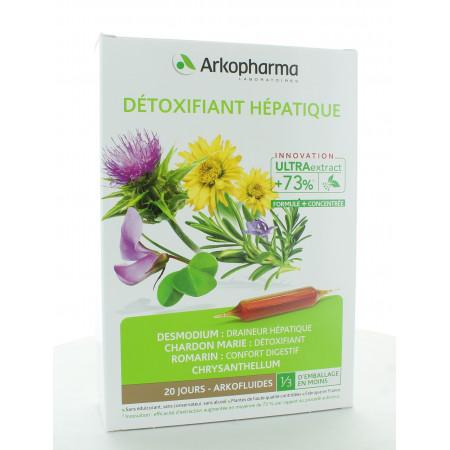 Arkopharma Arkofluides Bio Détoxifiant Hépatique 20 ampoules