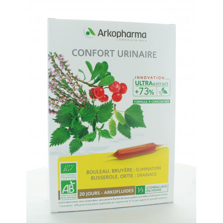 Arkopharma Arkofluides Bio Confort Urinaire 20 ampoules