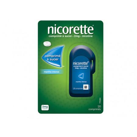 Nicorette 2 mg Menthe Intense 20 comprimés