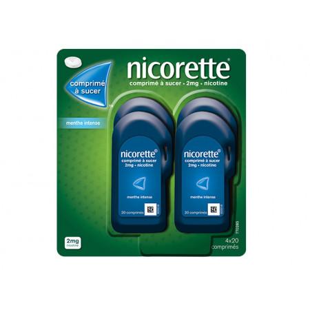 Nicorette 2mg Menthe Intense 4X20 comprimés à sucer