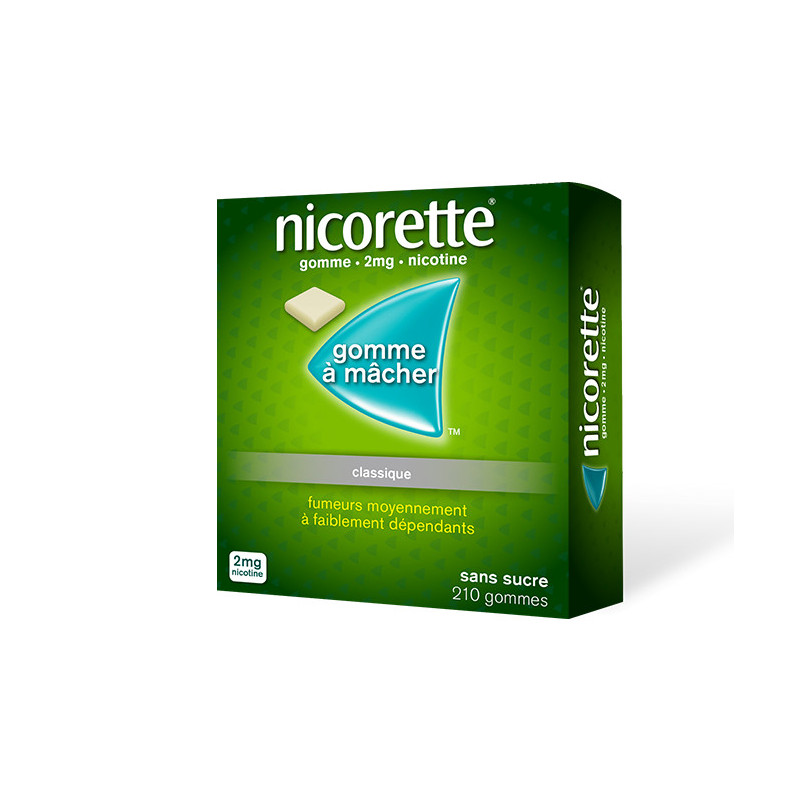Nicorette 2 mg 210 gommes