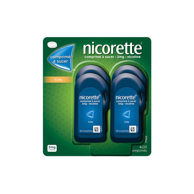 Nicorette 2mg Fruit 80 comprimés à sucer
