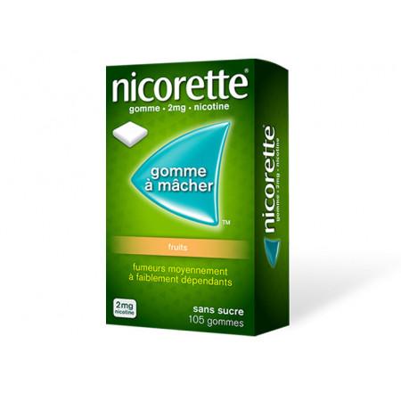Nicorette 2mg Fruits 105 gommes