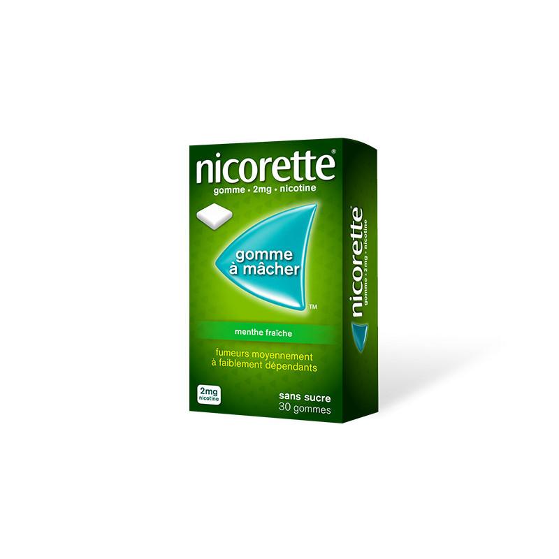 Nicorette 2mg Menthe Fraîche 30 gommes